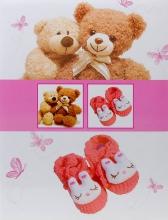 Samolepiace album 40 strán Bear ružové