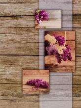 Mini album pre 100 fotiek 10x15 Wood fialové