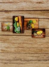 Mini album pre 100 fotiek 10x15 Wood žlté
