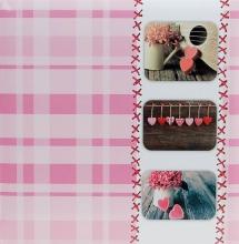 Fotoalbum 10x15 pre 500 fotiek Sweet heart ružové
