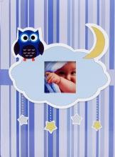 Fotoalbum 10x15 pre 300 fotografií OWL modré