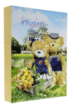 Album detské 10x15 pre 200 fotiek lepené Bears 3 žlté