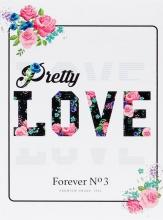 Mini album pre 100 fotiek 10x15 Love 3 biele