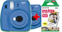 Fujifilm Instax Mini 9 - cobal blue + 10ks instantného materiálu