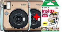 Fujifilm Instax Mini 70 - gold + 10ks instantného materiálu