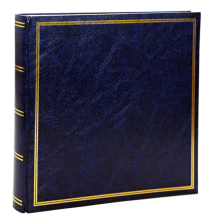 Klasické fotoalbum 100 strán modré