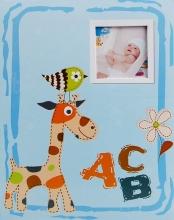 SAMOLEPIACE album 40 strán ABC modré šité