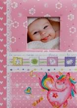 Fotoalbum 10x15 pre 300 fotografií Unicorn ružový