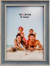 Fotorámček Malaga 15x21 šedomodrý