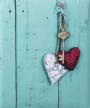 Klasické fotoalbum 100 strán Rustico Love Key