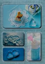Fotoalbum 10x15 pre 200 fotografií Linen 3 modrý