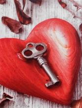 Mini album pre 100 fotiek 10x15 Heart kľúč