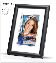Fotorámik 10x15  DRW H2 čierny