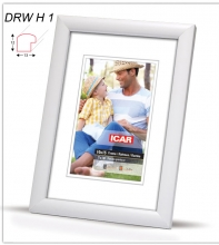 Fotorámeček 13x18 DRW H1 bílý