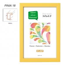 Fotorámeček 13x18 PINIA 18 žlutý