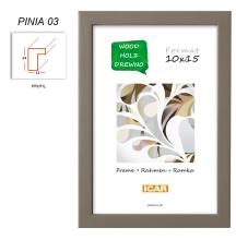 Fotorámeček 15x21 PINIA 03 hnědý