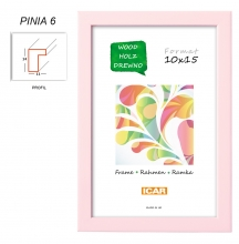Fotorámik 15x21 PINIA 6 ružový