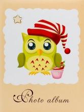 Mini album pre 100 fotiek 10x15 Owl žltý
