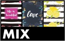 Minialbum 10x15 pre 64 fotiek  Leaf-mix farieb