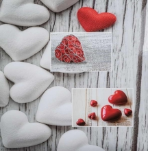 Fotoalbum 10x15 pre 500 fotiek Balance srdce biely