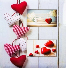 Fotoalbum 10x15 pre 500 fotiek Balance srdce červený