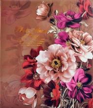 Fotoalbum 10x15 pre 500 fotiek Flowers hnědý