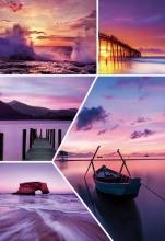 Fotoalbum 9x13 pre 200 fotografií Waves fialový