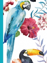 Mini album pre 100 fotiek 10x15 Exotic-papagáj