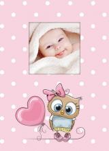 Fotoalbum 10x15 pre 300 fotografií Owls ružový