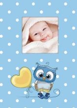 Fotoalbum 10x15 pre 300 fotografií Owls modrý