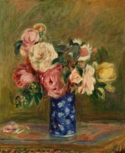 Kytica ruží 30x40cm - Pierre-Auguste Renoir