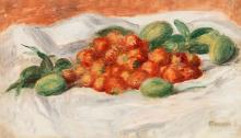 Jahody a mandle 35x60cm (1897) Pierre-Auguste Renoir Renoir