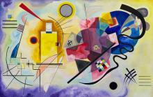 Žlutá-červená-modrá 55x85cm - Wassily Kandinsky