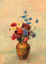 Květiny ve váze 50x70cm(1910) Odilon_Redon