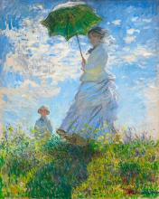Dáma se slunečníkem 40x50cm - Claude Monet