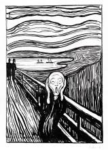 Výkřik 40x55cm - Edvard Munch