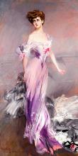 Portrét manželky Howarda Johnstona 30x60cm - Giovanni Boldin