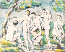 Kúpajúci sa 1897 50x40cm - Paul Cézanne