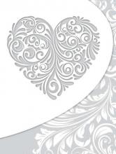 SAMOLEPIACE album 40 strán Heart 1 strieborný