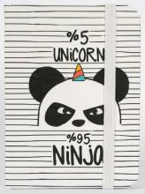 Zápisník Panda A7 white