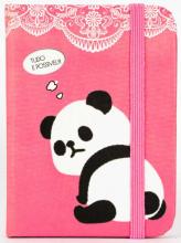 Zápisník Panda A7 pink