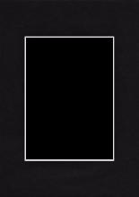 Pasparta 30x45/20x30 černá