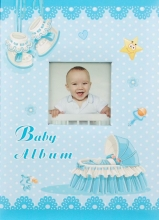 Fotoalbum 9x13 pre 200 fotografií Baby cradle modrý