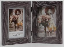Fotorámeček Narvik 2x 10x15 hnědý