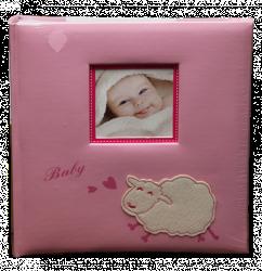 Album dětské 60 stran - baby sheep růžové
