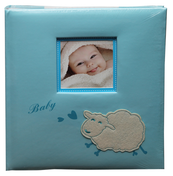 Album dětské 60 stran - baby sheep modré