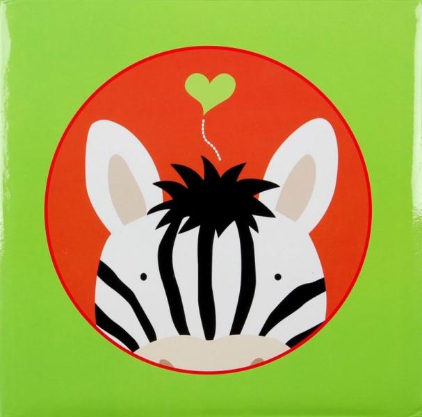 Album klasické dětské 100 stran - Jungle zebra zelený