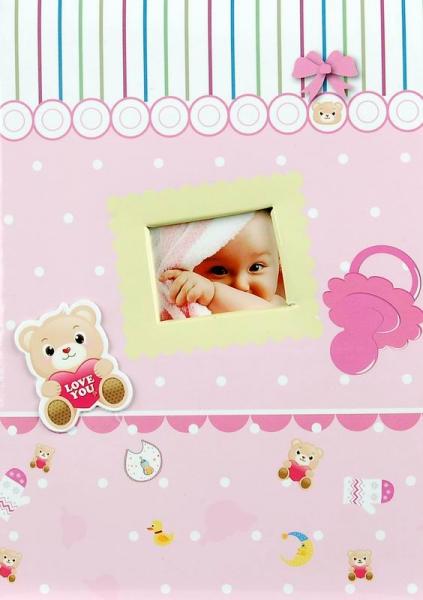 Album dětské 10x15 pro 200 fotek Cosmo růžové