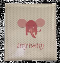 Album dětské 60 stran - baby Elephant růžové