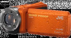 JVC GZ R415D FULL HD VODOTĚSNÁ KAMERA oranžová